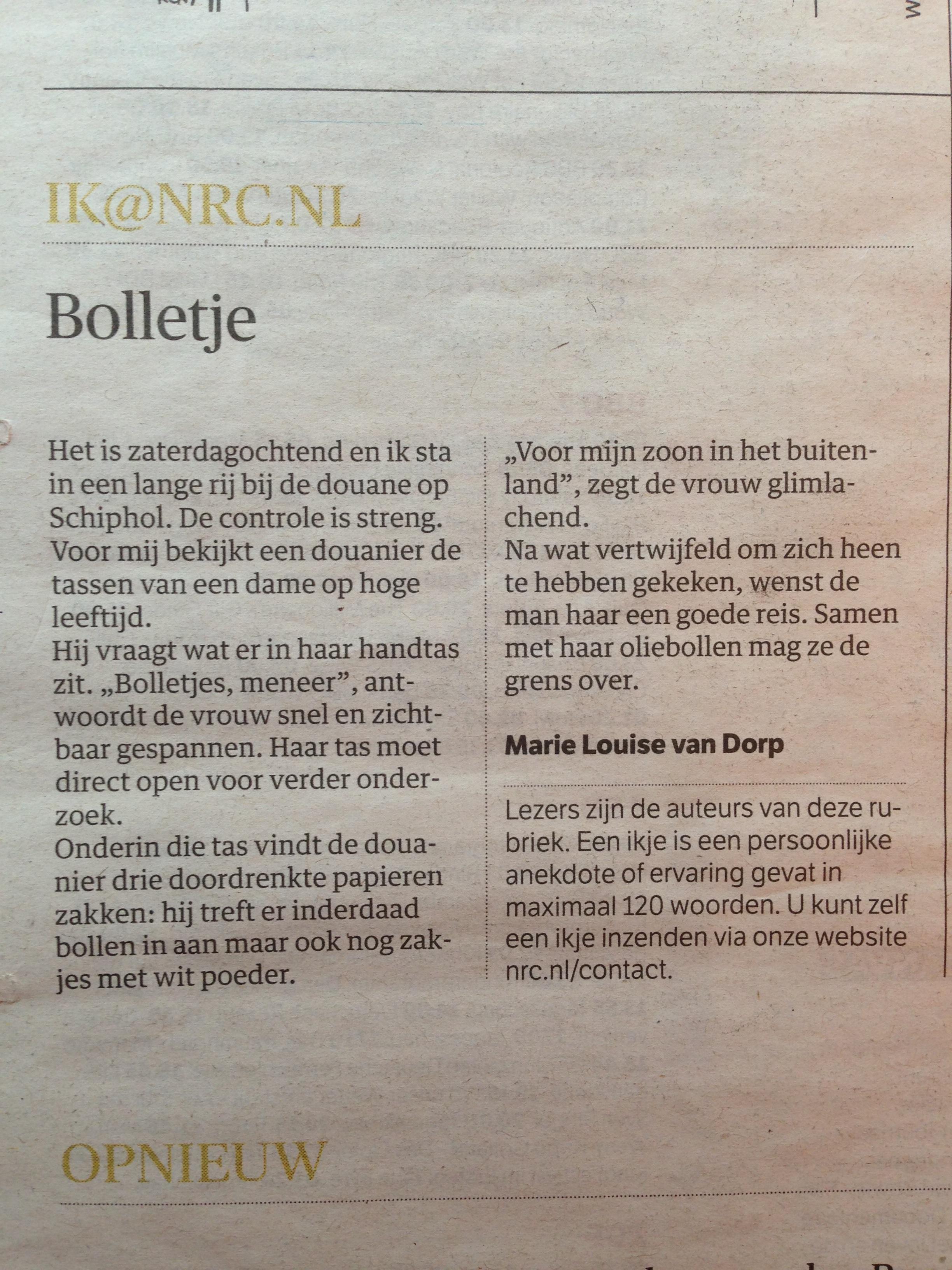 IKje NRC Marie Louise van Dorp
