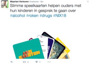 Maarten verkoren over NIX18