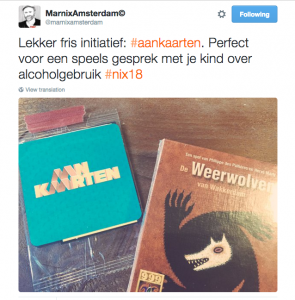 Marnix Pauwels op Twitter over NIx18