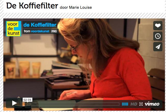 de Koffiefilter van Marie Louise van Dorp op voordekunst.nl