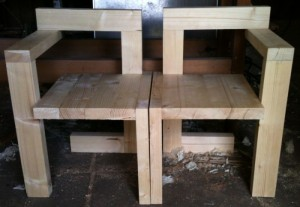 Hout en eenvoud steltmanstoel van rietveld zelfgemaakt for Steltman stoel afmetingen