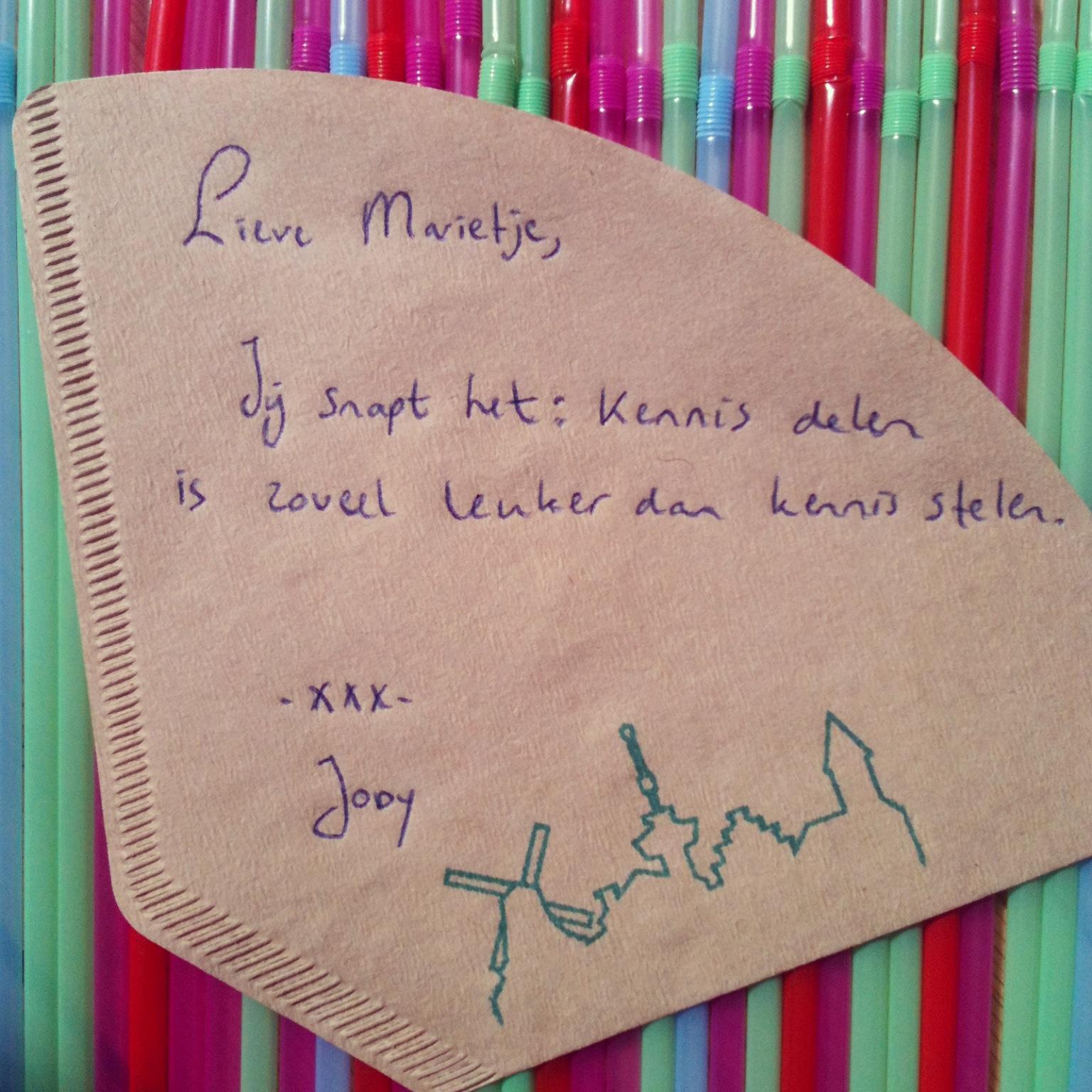 de Koffiefilter van Jody Koehler - Marie Louise van Dorp